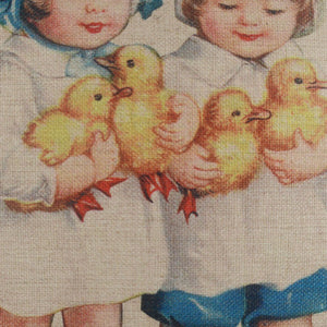 Vintage Postcard Easter Pillow Cover 18x18