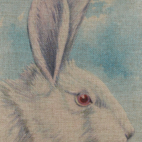 Image of Retro Bunny Easter Pillow Cover 18x18 inch