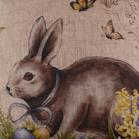 Image of Easter Day Rabbit Pillow Cover
