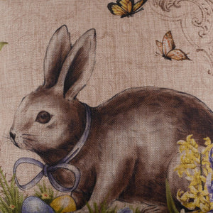 Easter Day Rabbit Pillow Cover