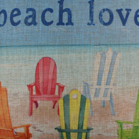 Image of Welcome Beach Lovers Pillow Cover
