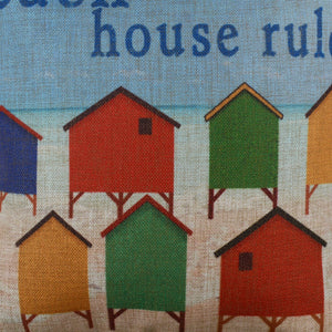 Beach House Rules Pillow Cover