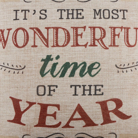 Image of It's the Most Wonderful Time of the Year Pillow Cover