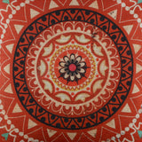Red Ethnic Pattern Pillow Cover