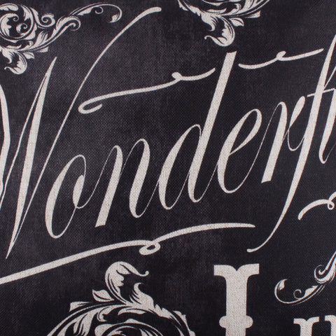 Image of It's a Wonderful Life Holiday Pillow Cover Photo Shoot Prop