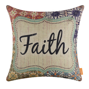 Ceramic Pattern Faith Cushion Cover