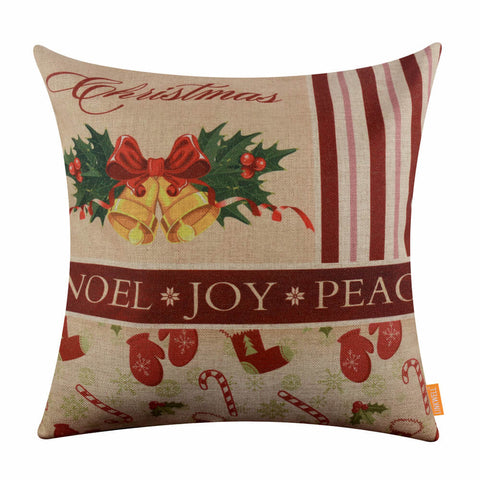 Christmas Bell 18 Inch Pillow Cover
