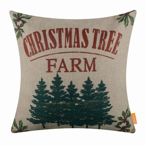 Image of Christmas Tree Farm Pillow Cover