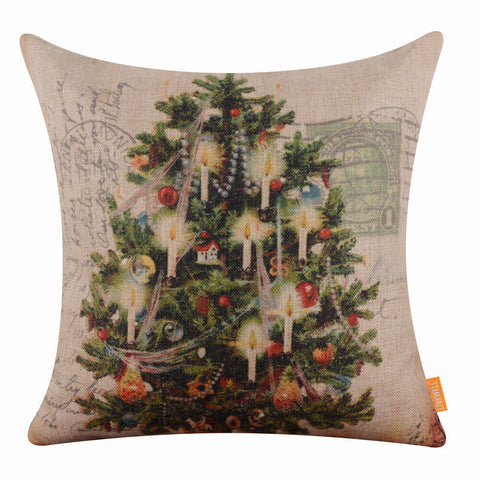 Image of Christmas Tree Pillow Cover