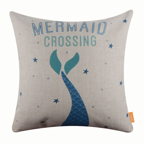 Coastal Mermaid Inspired Pillow Cover