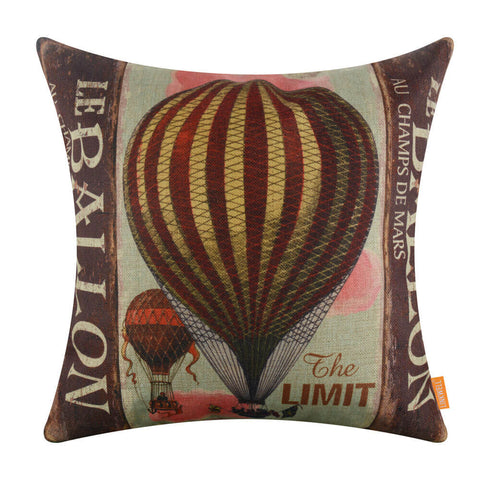 Colorful Fire Balloon Pillow Case Cover