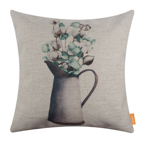 Image of Cotton Pods Pillow Cover Holiday Decor