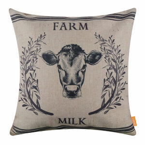 Cows Milk Pillow Cover