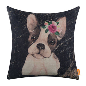 Cute Pet Watercolor Dog Pillow Cover