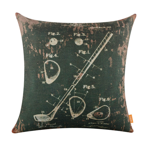 Deconstructed Golf Club Green Pillow Cover