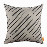 Diagonal Black Zig Zag Pillow Cover