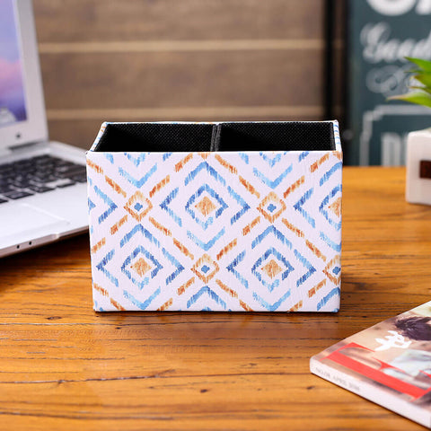Image of Diamond Ikat Pattern Pen Holder