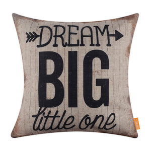Dream Big Little One Black Pillow Case