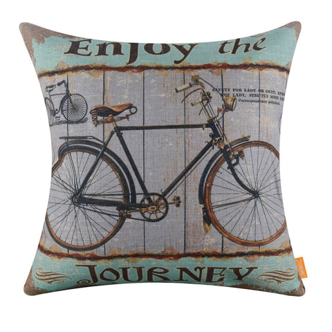 Image of Enjoy the Journey Bike Decorative Cushion Cover