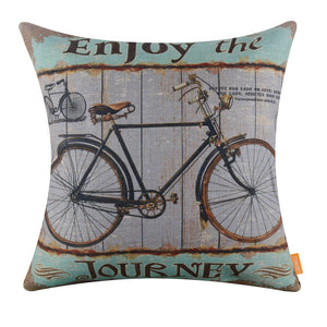 Enjoy the Journey Bike Decorative Cushion Cover