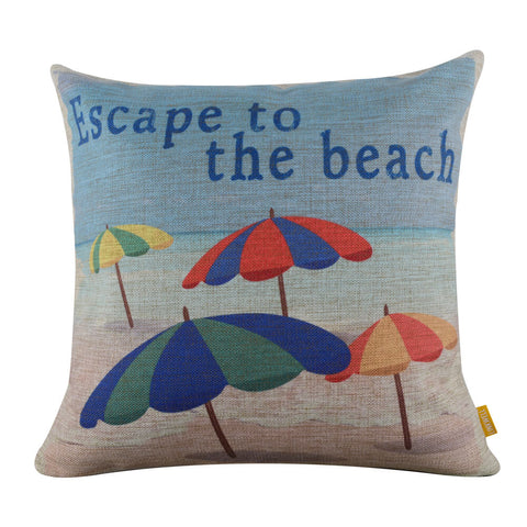 Image of Escape to the Beach Pillow Cover
