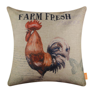 Farm Fresh Rooster Pillow Cover