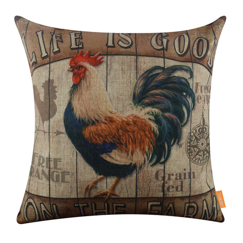 Farm Big Cock Sofa Pillow Cover