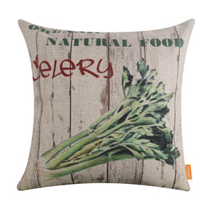 Farm Celery Pallet Pillow Cover