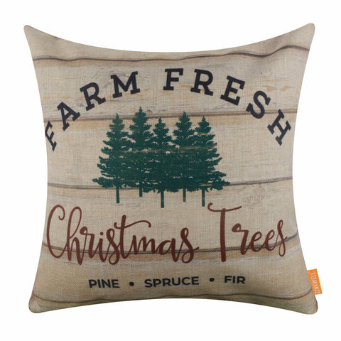 Image of Farm Fresh Christmas Tree Pillow Cover