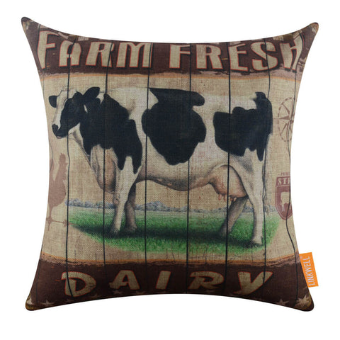 Farm Fresh Dairy  Cow Cushion Cover Online