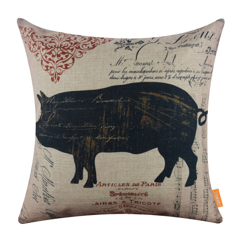 Image of Farm Pig 18 inch Pillow Cover
