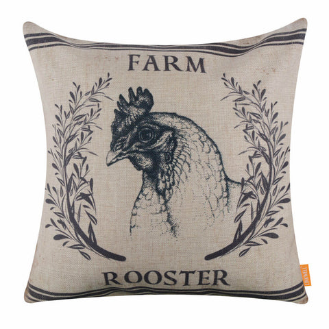 Farm Rooster Pillow Cover