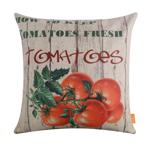 Image of Farm Tomato Pallet Pillow Cover