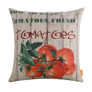 Farm Tomato Pallet Pillow Cover