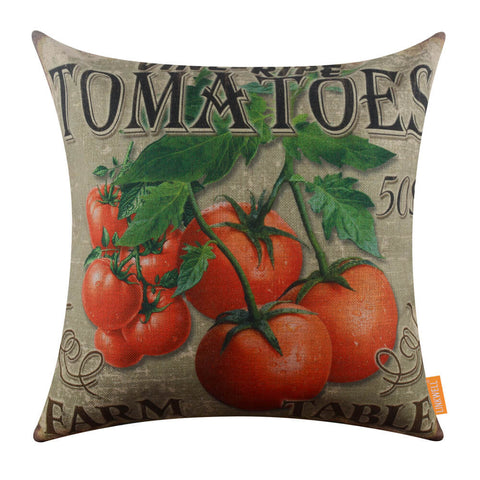 Farm Tomatoes Sofa Seat Cushion Cover