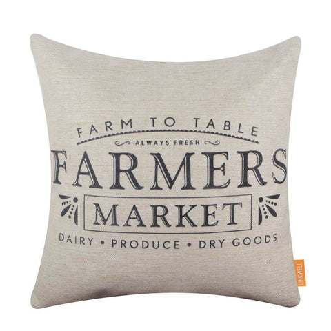 Image of Farm to Table Farmers Market Pillow Cover