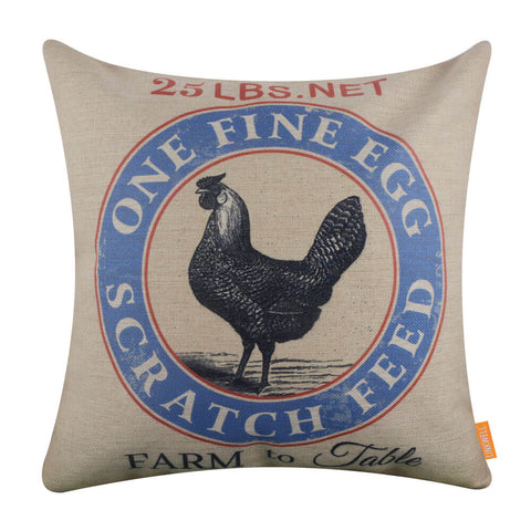 Farm to Table Hen Eggs Pillow Cover