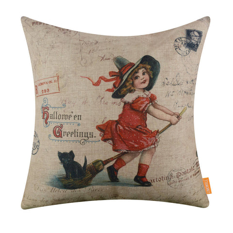 Image of Farmhouse Halloween Pillow Cover