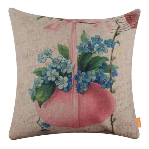 Farmhouse Pink Easter Egg Pillow Cover