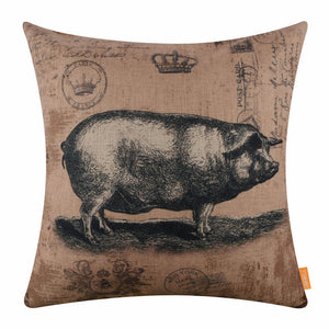 Farmhouse Style Pig Pillow Cover