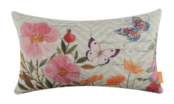 Fashion Butterfly Textured Pillow Cover
