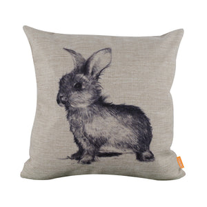 Fashionable Furry Baby Bunny Square Cushion Cover