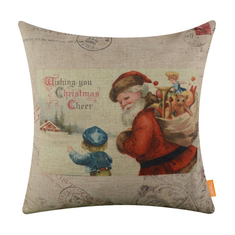 Father Christmas Pillow Cover