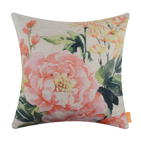 Image of Floral Pillow Cover for Easter Decoration