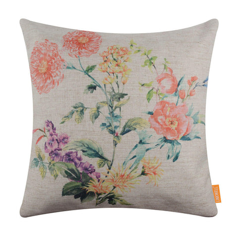Image of Flower Easter Pillow Covers 18x18