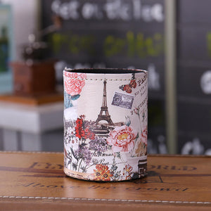 Flower Paris Eiffel Tower Pen Holder