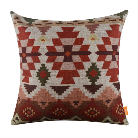 Flower Pattern Tribal Pillow Cover
