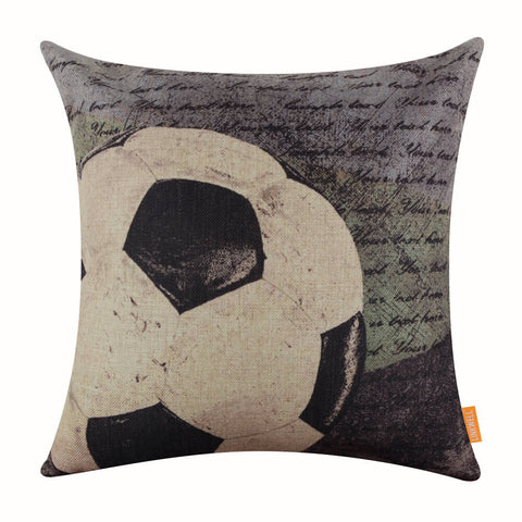 Image of Football Soccer Pillow Cover