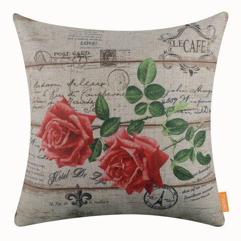 French Rose Pillow Cover