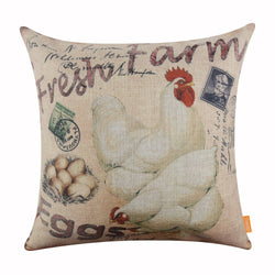 Fresh Farm Eggs Hen Large Couch Pillow Cover